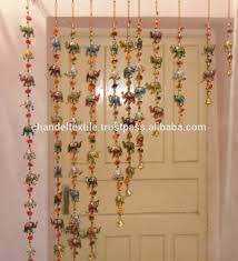 vintage handmade wall hangings pair latkan decor beaded door