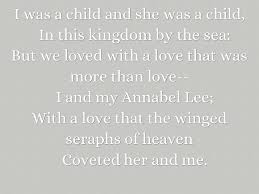 annabel lee by edgar allan poe edgar allan poe by katey lincoln