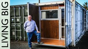 boat builder u0027s incredible 20ft shipping container home youtube