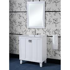 30 Inch Single Sink Bathroom Vanity by White 30 Inch Single Sink Bathroom Vanity With Matching Framed