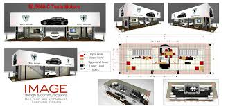 two story trade show display gl6020