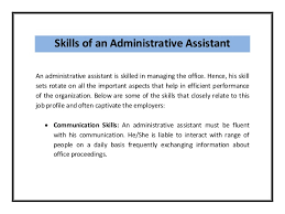 Best Resume For Administrative Assistant by Resume Administrative Skills Office Administrative Assistant