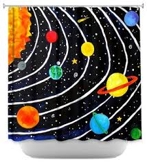 Outer Space Curtains Shower Curtain Unique From Dianoche Designs Solar System