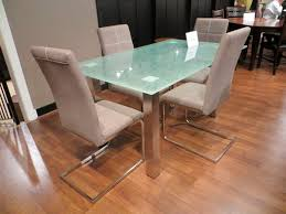 Homelegance Nerissa Dining Table In Crackle Glass  Chrome - Chrome kitchen table