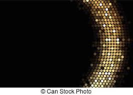 Gold Lights Vectors Illustration Of Black Background With Gold Lights Vector