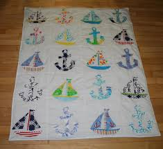 baby boy nautical quilt made with lilly pulitzer fabric