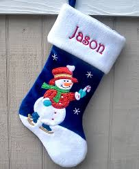 personalized christmas for kids blue skating snowman personalized christmas embroidered