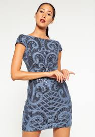 adrianna papell cocktail dress party blue women dresses w