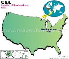 ohio on us map is bowling green ohio