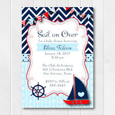 baby boy baby shower invitations nautical baby shower invitation for boys ahoy it s a boy baby