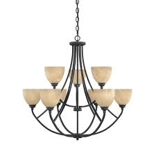 Chandelier Designers Designers Fountain Manhattan 9 Light Burnished Bronze Hanging