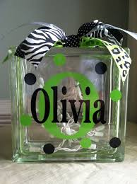 personalized monogram glass block light how cute great