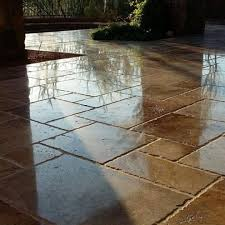 Best Sealer For Flagstone Patio by Decking Patios U0026 Pavers Services Baker U0027s Travertine Power Clean