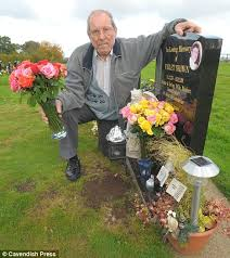 graveside flowers widower told don t put many flowers on your s grave it