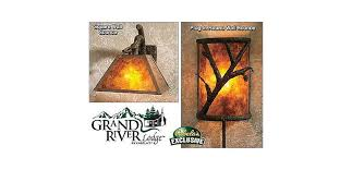 Rustic Sconce Grand River Lodge Rustic Pines Wall Sconce Collection Cabela U0027s