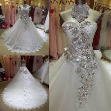 brautkleid strass luxus kristall bling bling perlen ballkleid brautkleider strass