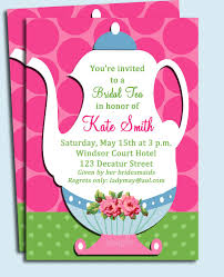 bridal shower invitations bridal shower tea party invitations