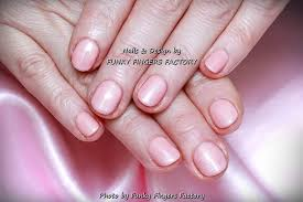 gelish light pink nails funky fingers factory
