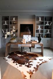 Cowhide Rug In Living Room Stunning Office Interiors With Cowhide Rugs