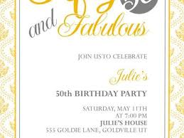 free printable 50th birthday invitations image collections