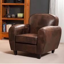 fauteuil club couleur fauteuil club en microfibre aspect cuir vieilli chocolat zia