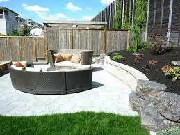 Patio Landscape Design Ideas Landscape Designs For Backyard Popular Of Backyard Fence
