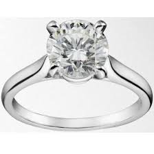 cartier engagement ring price 18k white gold agi certified cartier style solitaire