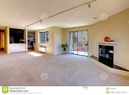 house interior with open floor plan empty room stock photo