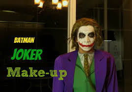 Batman Halloween Makeup by Batman The Joker Make Up Tutorial Youtube