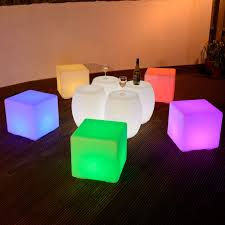 colour changing 40cm led cube stool available at this is it