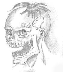 zombie portrait sketch by minion of cthulhu on deviantart