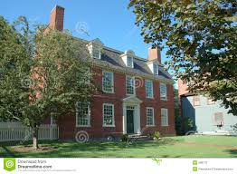 colonial historic brick house stock photo image 269770
