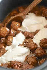 turkey meatballs in creamy mushroom crock pot swedish meatballs the country cook