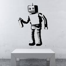 banksy robot walls need love touch of modern
