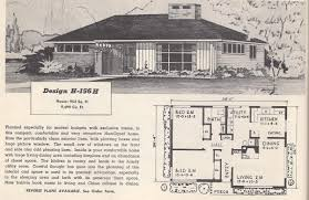 1950s homes vintage house plans 156h antique alter ego