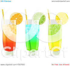 cocktail drinks clipart 3d cocktail drinks in highball glasses garnished with