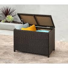 outdoor wicker storage ottoman buy outdoor patio storage from bed bath beyond