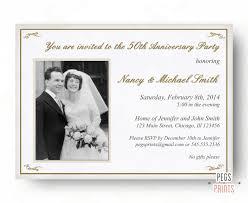 personalized anniversary invitations personalized 25th wedding