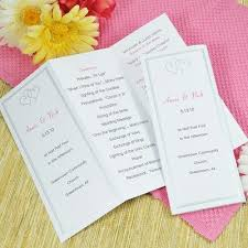tri fold wedding program robertwedding monogramtable numbersmenu fold program key west