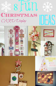 ideas for hanging christmas cards christmas lights decoration