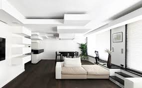 Contemporary Apartment In Paris With Architectural Blocks On The - Living room ceiling design photos