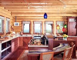 Interior Log Homes Kitchen Elegant Beach Modern Duckdo Dod Blue Inspiration House