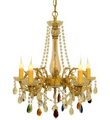 french brass with colored crystals baroque georgian louis xv
