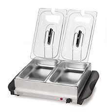 amazon com betty crocker stainless steel buffet server and