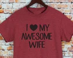 christmas gift husband gift i love my awesome husband womens t