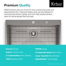 Kitchen Sink Capacity by Stainless Steel Kitchen Sinks Kraususa Com
