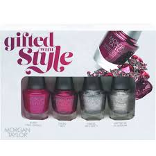 morgan taylor gifted with style a mini nail polish pack 4 x 5ml