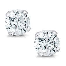 s diamond earrings 14k white gold diamond stud earrings 1 5cttw ebay