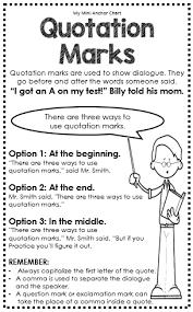 grammar mini anchor charts grammar rules quotation mark and