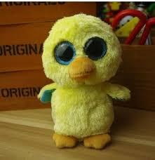 ty big eyes doll 15cm yello duck soft beanie boos stuffed doll
